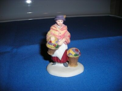 Department 56 - Heritage Village Collection - British Flower Lady with baskets