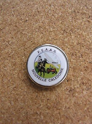 Rare Tractor F.E.A.A.B Nouvelle Caledonie Pin Badge, Great Condition,   A4.