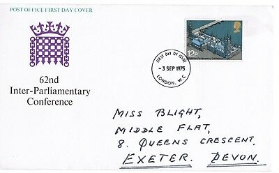 GB FDC 62nd Inter-Parliamentary Union Conference SG 988 1975