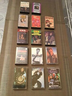 Lot 14 K7 Cassettes Audio Johnny Hallyday
