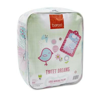 Baroo Tweet Dreams Maternity Support Pillow and Nursing Pillow 100% cotton