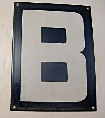 Original Vintage Blue Porcelain Letter B ~ Make A Name / Sign Gift ~  Lot 204