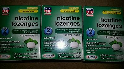Rite Aid Nicotine Lozenges Generic Nicorette 2 MG 216 Total Pieces EXP 2018