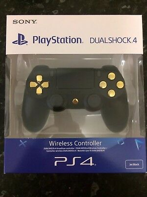 Custom Black Gold Sony PS4 PlayStation 4 Slim Pro Official Dualshock Controller