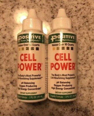Lot of 2 Positive Power Nutritionals Cell Power 2 Fl Oz / 4 Fl Oz Total