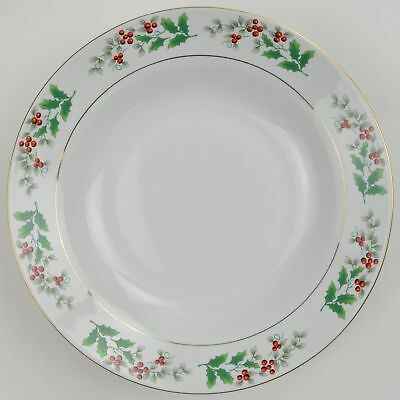 Gibson Houswares Christmas Charm Soup / Salad Bowl Fine Porcelain China Holiday