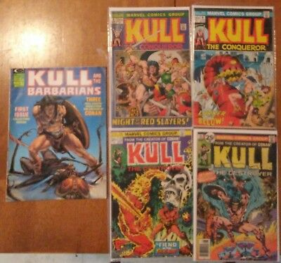 Marvel Comics Kull And The Barbarians Conqueror Destroyer #1 #4 #6 #13 #16 Lot