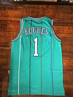 Muggsy Bogues Charlotte Hornets NBA Jersey Retro Throwback Mens Small 7c9abf3e0