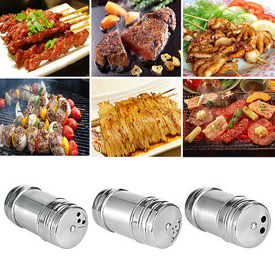 Stainless Steel Salt Pepper Shaker 4 Size Portable Home Travel Seasoning Shaker