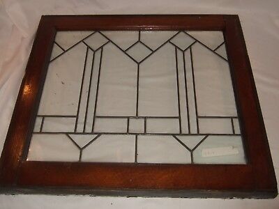 "Antique Geometric Leaded Glass Door Window Storm 28 1/2"" X 25"" X 1 3/8"" 9 Availa"
