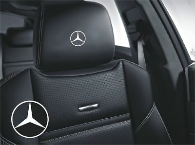 5x Mercedes Benz logo for leather seats and other flat and smooth surfaces