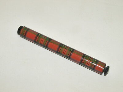 ANTIQUE TARTANWARE ROLLING RULER ; Stuart Tartan