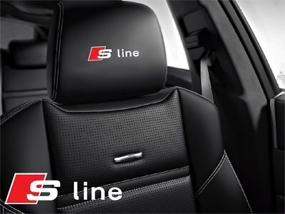 5x Audi S-line Sticker logo for leather seats and other flat and smooth surfaces
