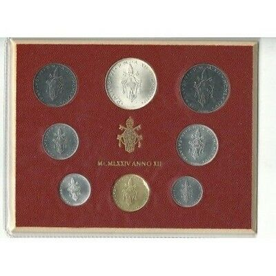 1974 Vatican Vatican City Divisional Year Xii Coins Set Fdc Mf21945