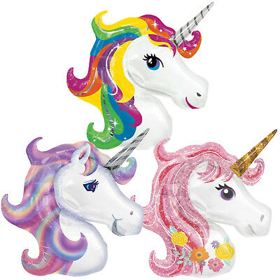Giant 1M Foil Unicorn Balloon, Large Kids Birthday Party Helium & Air Decoration