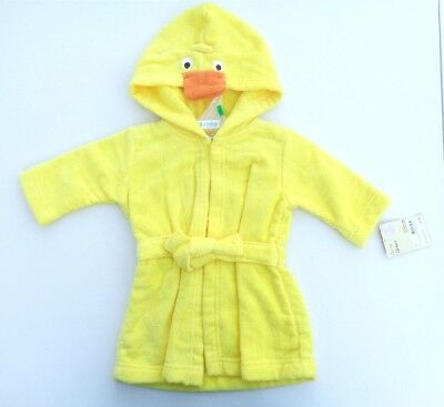 NEW Carter's Bath Robe Cover Swim Duck Yellow Baby Boys Girls Clothes SZ 0-9 M