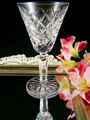Waterford TYRONE Cut Criss Cross White Wine Stem Vintage