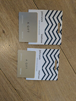 John Lewis Gift Cards - £100 - with Receipts