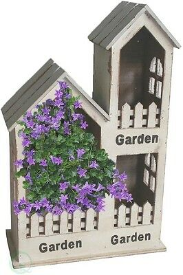 Wood 3 Section Wall Planter, Flower, Herb Home Garden, Patio Decor, Gift Ideas