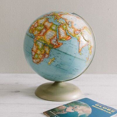 1971 Rand McNally Political Globe with Handbook