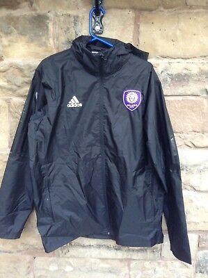 Brand New With Tags Orlando City FC 2018/19 MLS Adidas Rain Jacket Black Large
