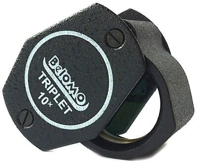 """Belomo Magnifier Triplet 10x 21mm (1,85"""") Achromatic Lens Loupe Jewelry Coins"""