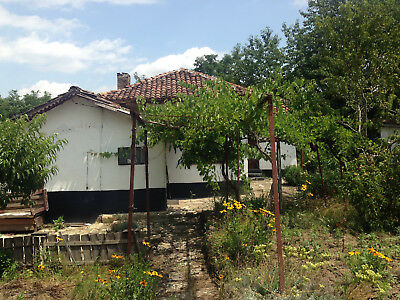 Adobed house property real estate land 1630 sq.m. plot Black Sea region Bulgaria