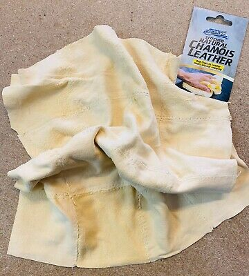 Natural Leather Chamois Real Genuine Car Shammy Chammy Drying Cleaning Cloth