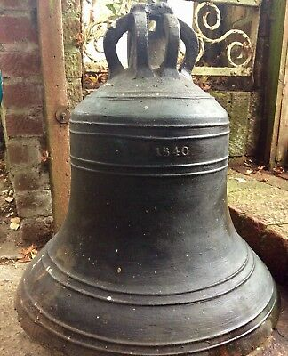 Rare 1840, Large Solid Bronze Church Bell by Thomas Mears of Whitechapel Bell
