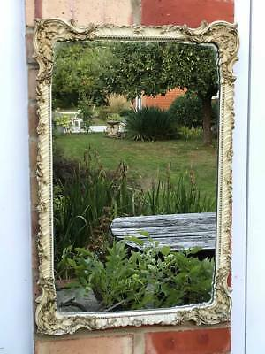 Beautiful Shabby Chic Vintage Ornate Plaster Mirror