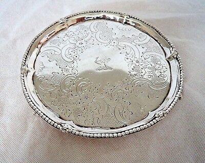 18Th Century George Iii London 1773 Sterling / Solid Silver Salver