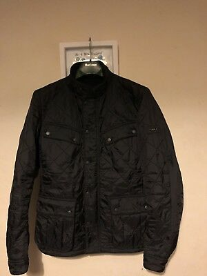 Mens Small Barbour Jacket Barbour International Quilted Coat Ariel Polarquilt