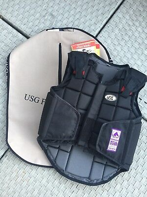 USG Reitsport Sicherheitsweste I Flexi Body Protector I Reitweste, Child Large