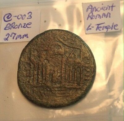 Ancient Roman Large Thick 27mm Temple Coin Bronze Very Rare!