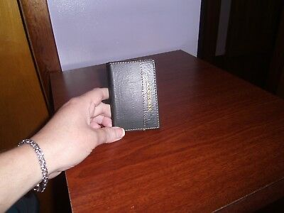 (New) Small-- Pocket Address Book/Black Faux Leather Cover