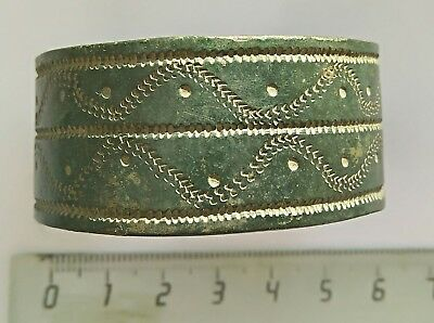 Scythian bracelet with ornaments. Scythians. Bronze. 5-6th century. Bracelet.
