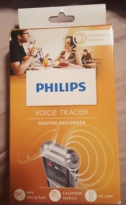 Philips Voice Tracer DVT4100 Digital Recorder Speech Recognition Dictation MP3