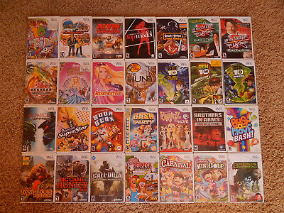 Nintendo Wii Games! You Choose from Selection! Many Titles! $5.95 Each!