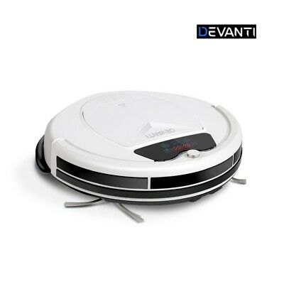 Devanti Automatic Robot Robotic Vacuum Cleaner Recharge Dry Wet Mopping White