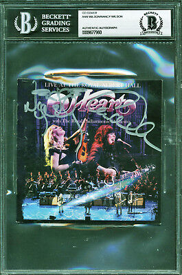 Heart Signed Royal Albert Hall CD Booklet Beckett BAS Slabbed Ann Nancy Wilson 5