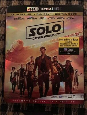 Solo: A Star Wars Story 4K Ultra HD + Blu-Ray + Digital New SEALED + Slipcover