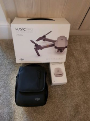 DJI Mavic Pro Platinum Fly More Combo 4K Camera Drone 7 month DJI Warranty