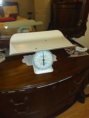 Vintage 1960'S American Family Nursery Baby Scale 30 lbs By Ounces. 13 KG by 50g