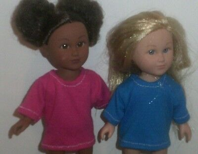 Doll Clothes-fit Mini American Girl Boy My Life-2 Tops-Lt Blue & Pink