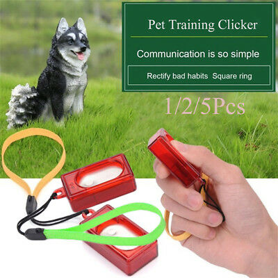 Puppy Wrist Strap Pet Clicker Agility Trainer Training Obedience Dog Whistle