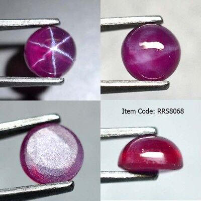 Round 6 MM Synthetic Lab Created Ruby Star Sapphire Corundum Cabochon