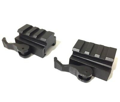 "2PCS 3-Slot Quick Release Detach QR QD 1/2"" Riser Mount for Picatinny Rail"