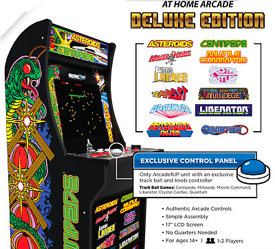 1-UP DELUXE EDITION 1UP CABINET ARCADE VIDEO GAME MACHINE 12-in-1 ATARI NEW