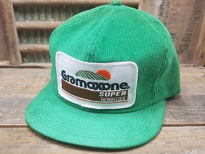 a74fa798ea8 Vintage GRAMOXONE Herbicide SnapBack Trucker Hat Cap Patch K BRAND Made In  USA