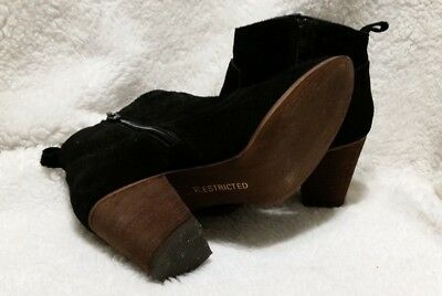 WOMEN S RESTRICTED BLACK Suede Ankle Boots size 6.5 -  20.00  c14d5e7a81